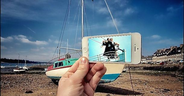 Amazing Artist Adds Movie Scenes To Everyday Life
